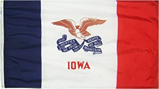 Annin Flagmakers Model 141760 Iowa State Flag 3x5 ft. Nylon SolarGuard Nyl-Glo 100% Made in USA to Official State Design Specifications.