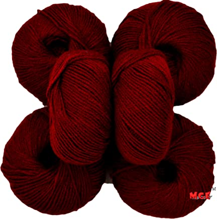 Vardhman Acrylic Knitting Wool (Mehroon) - Pack of 6