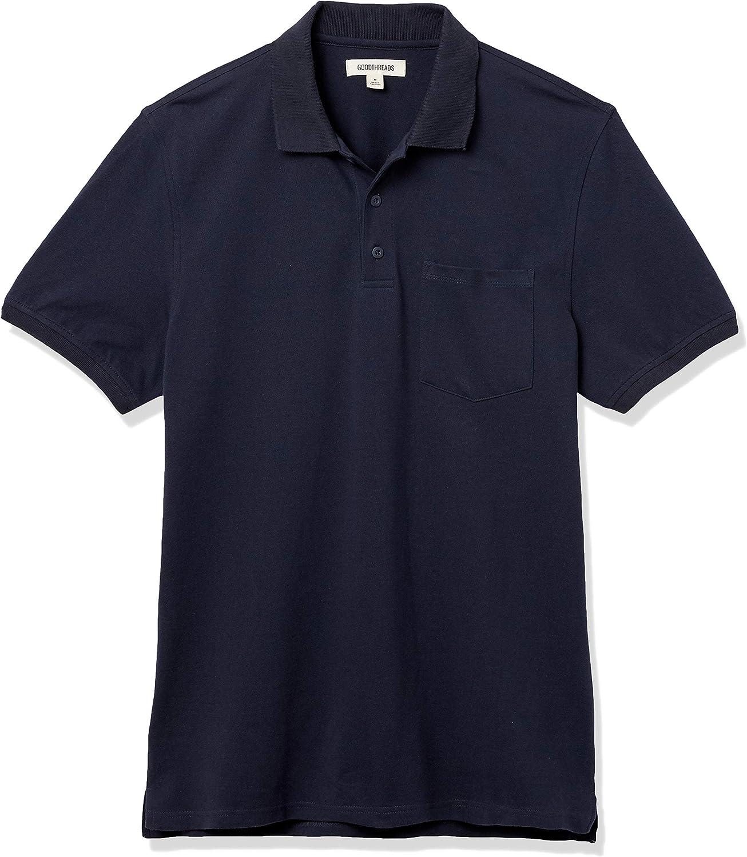 Goodthreads Men's Soft Cotton Stretch Pique Polo