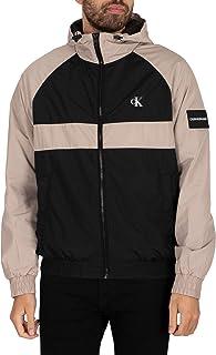 Calvin Klein Jeans Men's Blocked Zip Through Jacket, Black, L