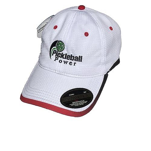 1e98776d4426f Pickleball Marketplace Logo Performance Ball Cap - Embroidered   Adjustable  - White