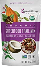 Essential Living Foods Organic Superfood Trail Mix, Figs, Mulberries, Goji Berries, Coconut, Cashews, Brazil Nuts, Cacao N...