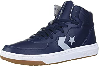 Converse Unisex-Adult Rival Leather Mid Top Sneaker