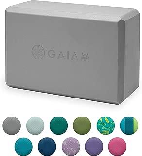 Gaiam Yoga Block - Supportive Latex-Free EVA Foam Soft Non-Slip Surface for Yoga, Pilates, Meditation