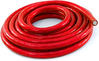 KnuKonceptz Bassik 8 Gauge Power / Ground Wire Cable Red 25 foot coil