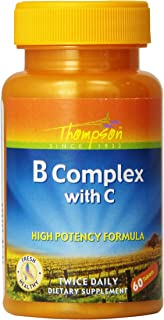Thompson B-complex with Vitamin C, 60 Tablets,  (Pack of 3)