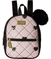 Luv Betsey - Sadie PVC Mini Sequin Quilted Backpack