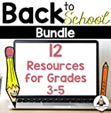 Back to School Bundle for Grades 3-5 - Math, Writing, Reading, and Fun Activities for the School Year