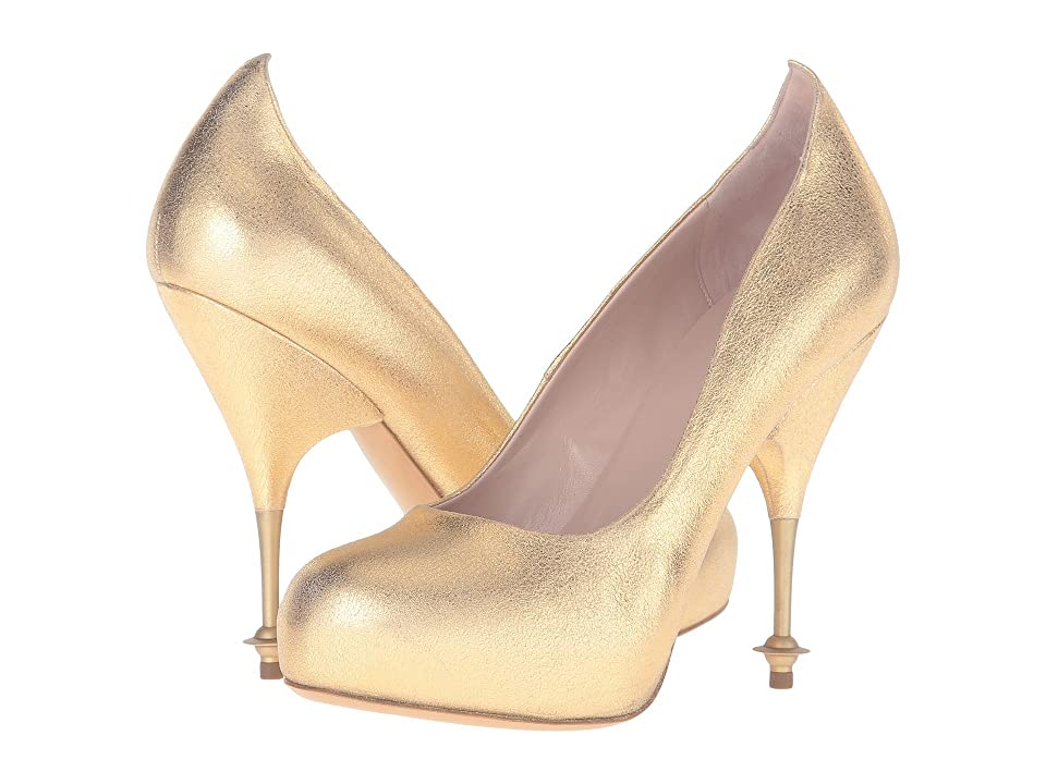 Vivienne Westwood Drama Court (Gold) High Heels