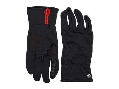 Hestra Touch Point Fleece Liner Five Finger (Black) Ski Gloves