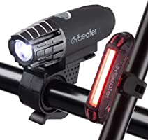 Cycleafer® Fietsverlichting set, USB oplaadbare fietsverlichting, Super KRACHTIGE lumen, Fietslichten set, LED...