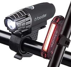 Cycleafer® Fietsverlichting set, USB oplaadbare fietsverlichting, Super KRACHTIGE lumen, Fietslichten set, LED fietsverlic...