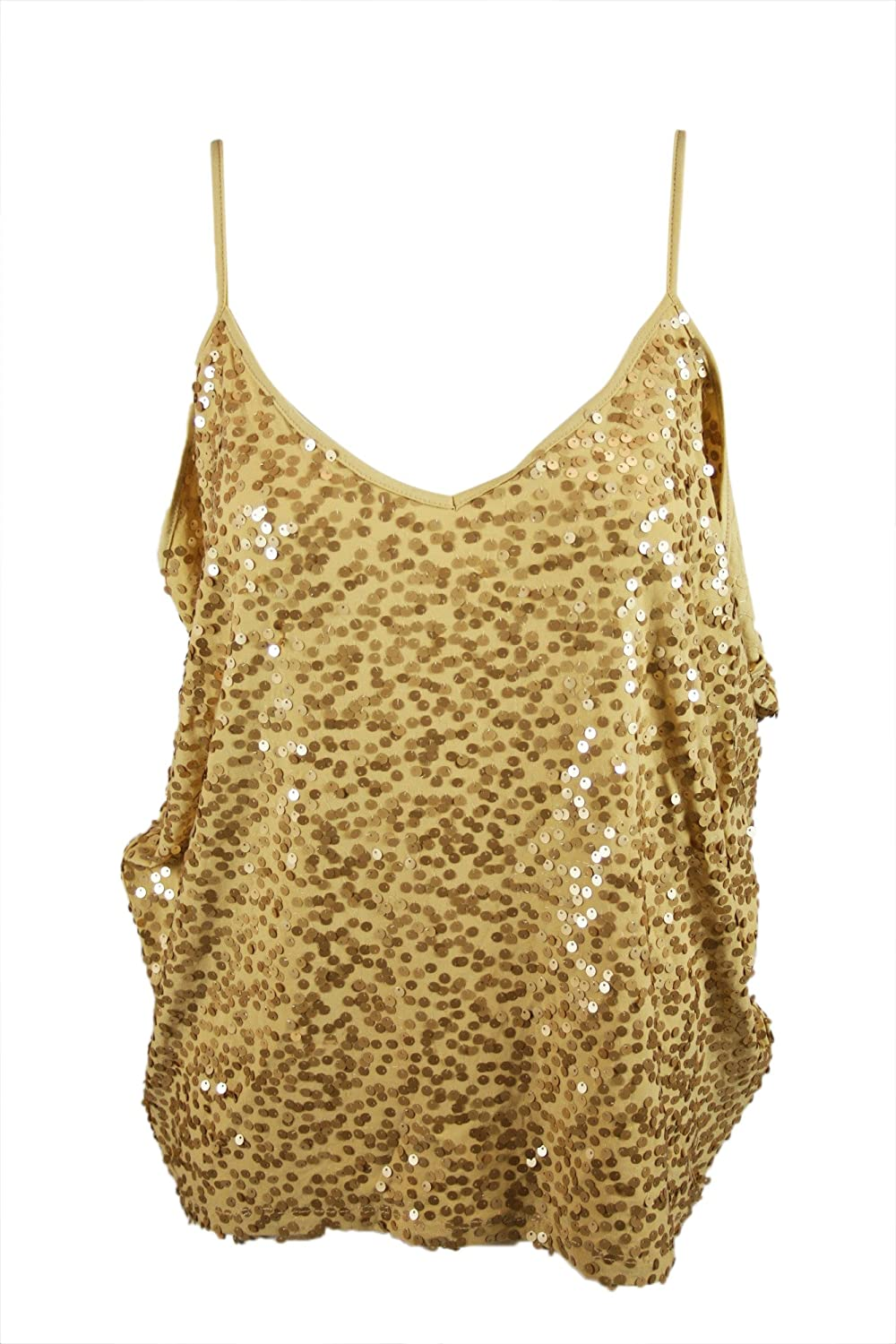 INC International Concepts Womens gold Sequins Camisole Top M