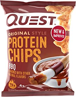 Quest Nutrition Bbq protein Chips, Low Carb, Gluten Free, Potato Free, Baked, 8Count