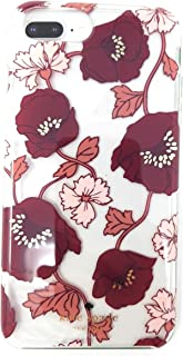 Kate Spade New York Dream Floral Red/Pink Gold iPhone Case compatible with iPhone 8 Plus/7 Plus/6s Plus/6 Plus