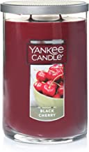 Yankee Candle Large Jar 2 Wick Black Cherry Scented Tumbler Premium Grade Candle Wax with up to 110 Hour Burn Time