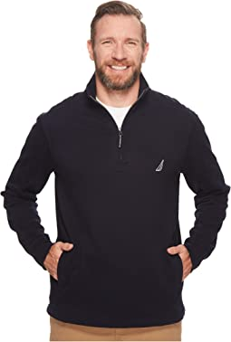 Nautica Big & Tall - Big & Tall Long Sleeve 1/4 Zip Sweater