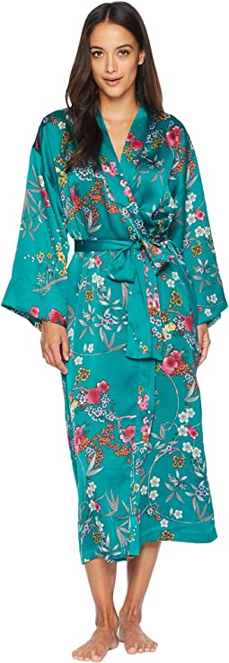Eden Printed Satin Robe