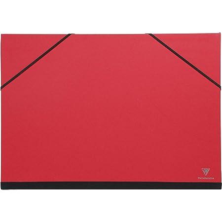 Clairefontaine 144405C - Un carton à dessin fermeture élastiques 52x72 cm, Rouge