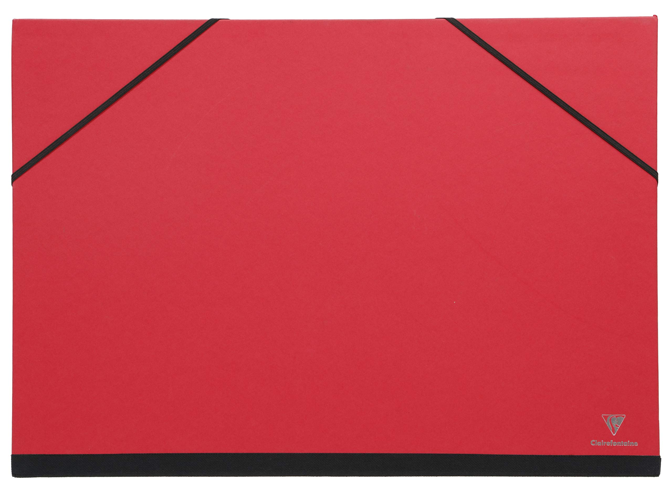 Clairefontaine 144705C - Caja de dibujo con goma elástica, 37 x 52 cm, color rojo: Amazon.es: Oficina y papelería