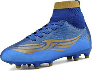 blue and gold youth football cleats