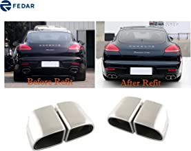 Fedar Fits 2014-2016 Porsche Panamera 4S/Turbo Stainless Steel Exhaust Pipe/Tip