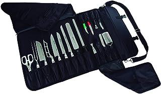 Arcos Trousse Couteaux - Trousse Couteaux to 17 pièces - 100% Polyester 520 x 920 mm - Couleur Noir (COUTEAUX NON INCLUS)