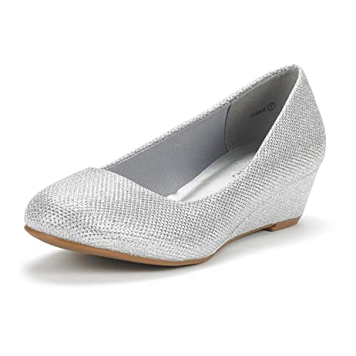 632bc4527b6 DREAM PAIRS Women s Debbie Mid Wedge Heel Pump Shoes