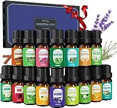 Homasy 16 X 5ml Aceites Esenciales, Aceite aromático puro de aromaterapia, conjunto de aceite aromático para difusor, humi...