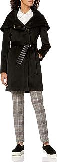 معطف كول هان من الصوف للنساء بحزام غير متماثل