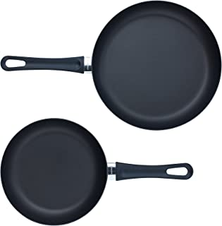 "Scanpan Classic 2 Piece Fry Pan Set, 8"" and 10 1/4"", Black"