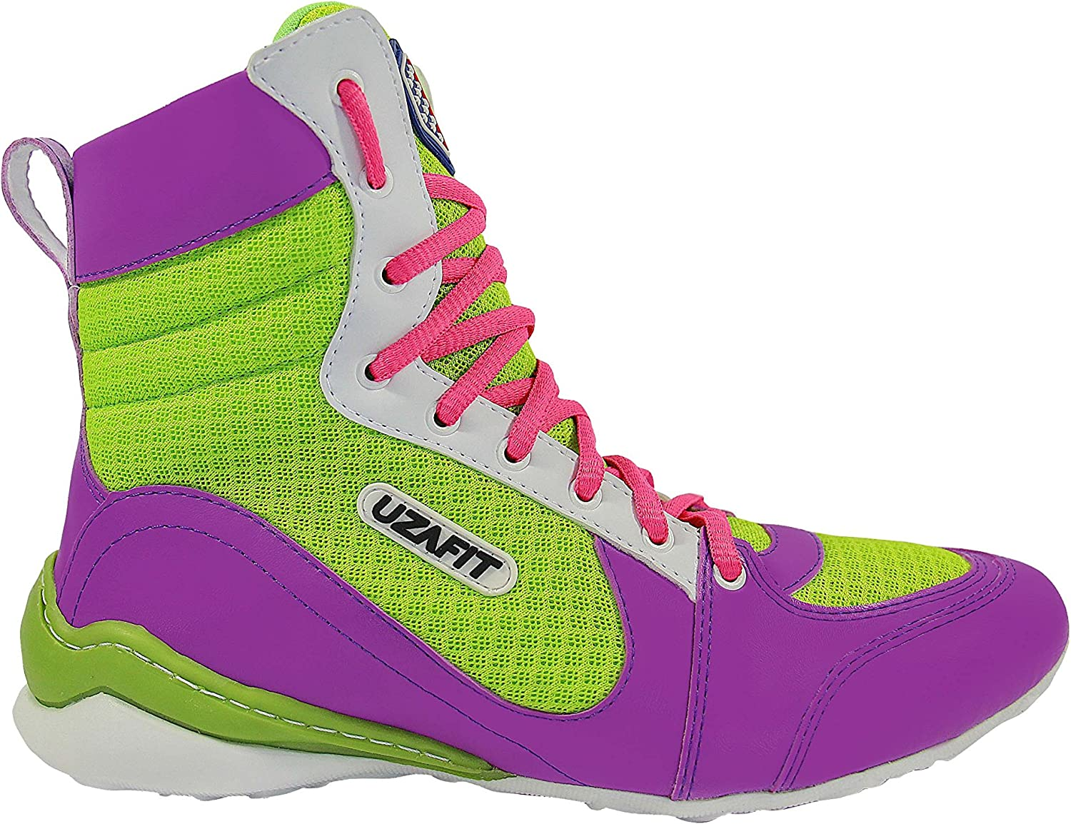 UZAFIT Miami Bodybuilding Weightlifting Crossfit Boxing shoes Sneaker Purple Green Pink Women's 7.5