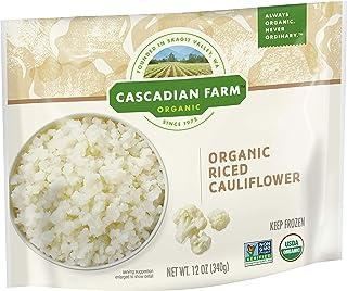 Cascadian Farm Organic Riced Cauliflower, Frozen Vegetables, Non-GMO, 12 oz Bag