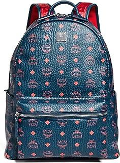 MCM Men's Stark 40 Backpack, Deep Blue Sea, One Size