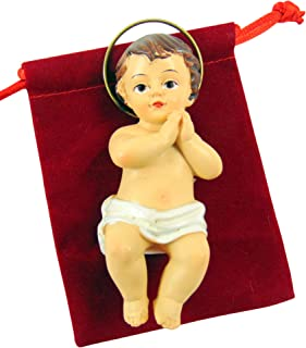Religious Gifts Jesus Christ Child Figurine 1 3//4 Inch Plastic Baby for Nativity Set or Kings Cake CB