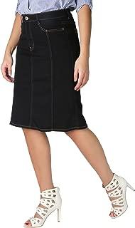 Women Denim Skirt Classic Stretch Pencil A-Line Office Skirts