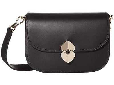 Kate Spade New York Lula Small Saddle Bag (Black) Bags