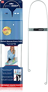 Perfect Sleeve Ironing Assistant for Wrinkle-Free Shirt Sleeves, Includes Magnetic Holder, Stainless Steel