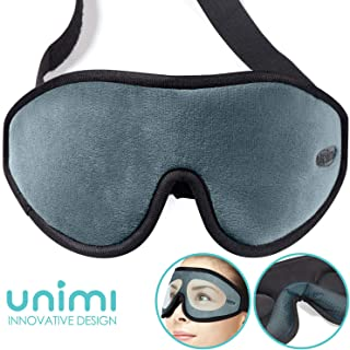 Unimi 100% Light Blocking Sleeping Mask for Women & Men, Larger and Deeper 3D Contoured Eye Mask for Sleeping, Breathable and Super Soft Eye Cover, Ideal for Travel, Shift Work, Naps, Night Blindfold