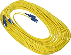C2G/Cables to Go 14471 SC/SC Duplex 9/125 Single - Mode Fiber Patch Cable (20 Meters, Yellow)