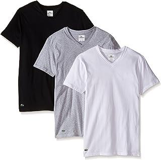 Lacoste Men's 3-Pack Essentials Cotton V-Neck T-Shirt