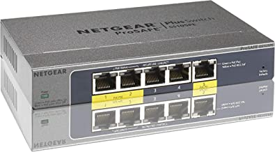 NETGEAR 5-Port Gigabit Ethernet Smart Managed Plus PoE Switch (GS105PE) - with 2 x PoE PD Powered @ 19W Pass-thru, Desktop, and ProSAFE Limited Lifetime Protection