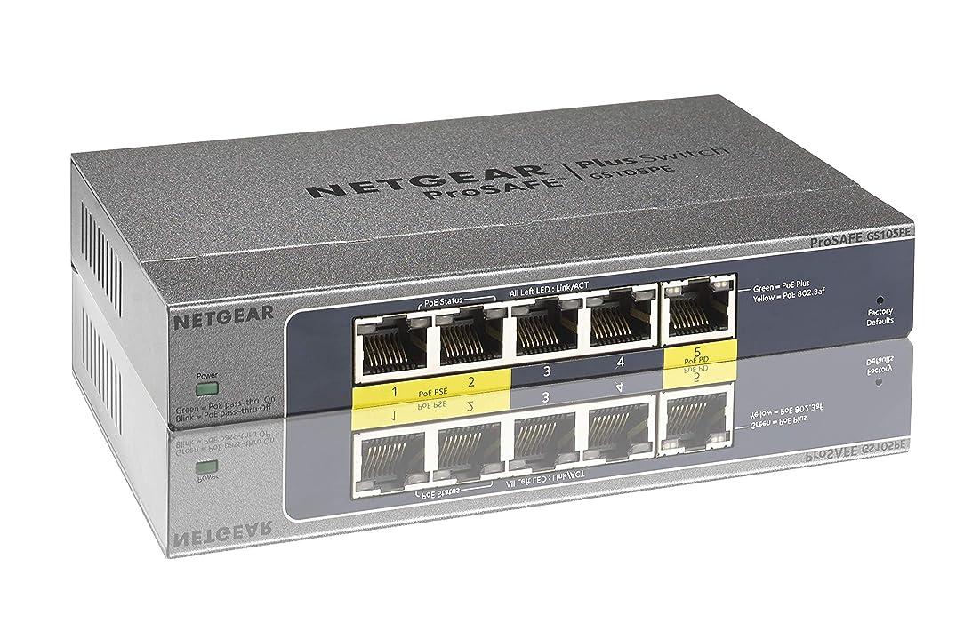 時ペンダントクライストチャーチNETGEAR スイッチングハブ ギガビット 5ポート PoEパススルータイプ 管理機能付 日本語GUI GS105PE-10000S
