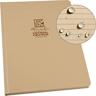 "Rite in the Rain Weatherproof Hard Cover Notebook, 8.75"" x 11.25"", Tan Cover, Universal Pattern (No. 970TF-MX)"