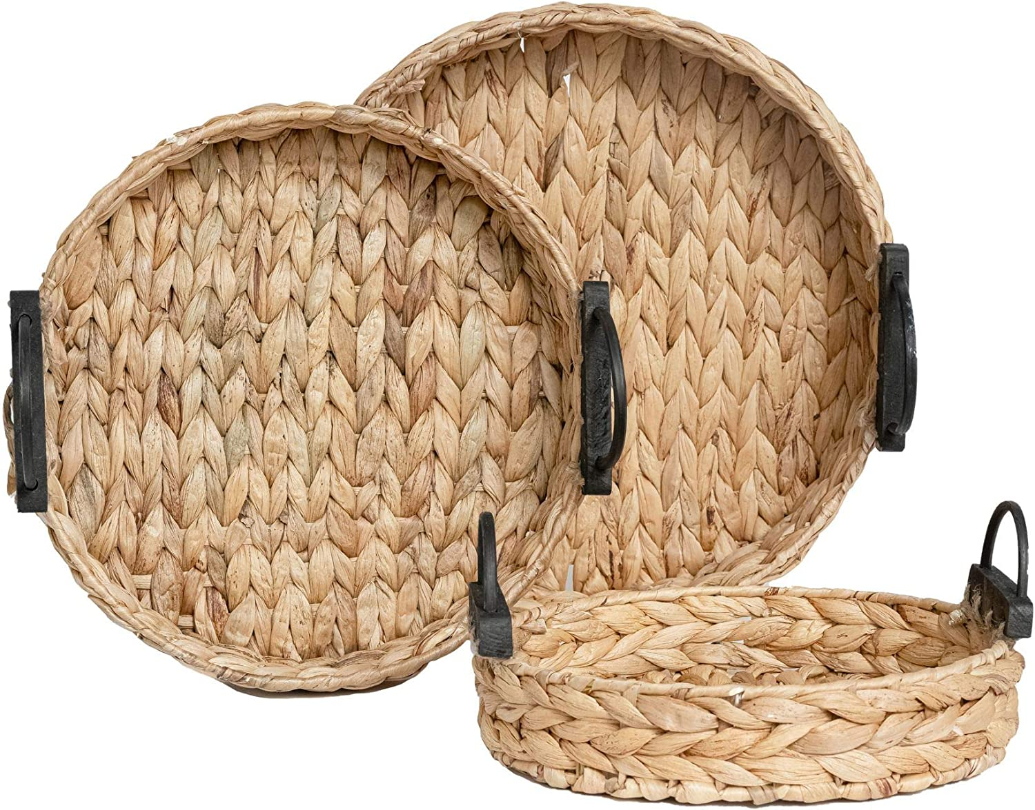 National uniform free shipping Handcrafted Hyacinth Max 59% OFF Storage Baskets and by RGI Serving Trays Ho