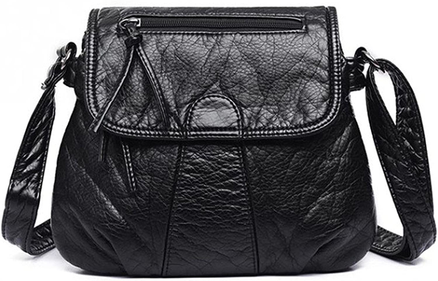 Blazing Autumn Small Soft Black Shoulder Crossbody Faux Leather Womens Purse