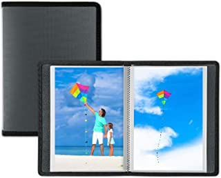 Dunwell Small Photo Album 4x6 - (Dark Silver, 2 Pack), 24 Pages Hold 48 Pictures, 4x6 Portfolio Folder for Artwork, Great Art Book for Postcards or Picture Storage, Photo Book for 4 x 6 Pictures