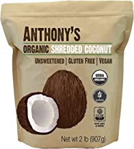 Anthony's Organic Shredded Coconut, 2 lb, Unsweetened, Gluten Free, Non GMO, Vegan, Keto Friendly