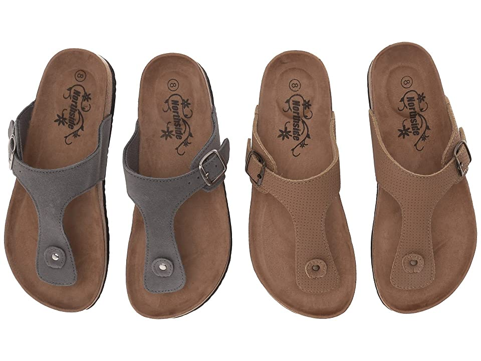 Northside Bindi 2-Pair Pack (Sand/Grey) Women