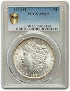 1879 o morgan silver dollar ms65